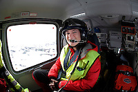 Anestesilege Ann-Elin Tomlinson ved Ål-basen. <br />