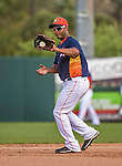12 March 2014: Houston Astros infielder Gregorio Petit in action during a Spring Training game against the Washington Nationals at Osceola County Stadium in Kissimmee, Florida. The Astros rallied in the bottom of the 9th to edge out the Nationals 10-9 in Grapefruit League play. Mandatory Credit: Ed Wolfstein Photo *** RAW (NEF) Image File Available ***