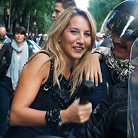 Jo Squillo alla setttimana della moda.<br /> <br /> The italian show girl Jo Squillo at the Milan fashion week.