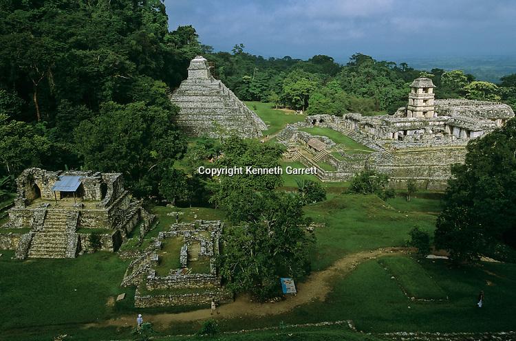 Ancient Cultures; Americas; Maya; Palenque; Mexico; Chiapas; Palace; Scenic