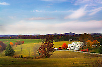 FLOYD, VA,  A farmhouse surrounded by fall foliage in Floyd, Virginia.