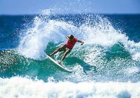 Snapper Rocks,Coolangatta, Queensland, Australia. Dean 'Dingo' Morrison (AUS) on his way to winning the Quiksilver Pro Gold Coast in 2003. Photo: joliphotos.com