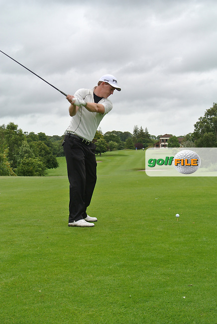 Gerard Lawlor (Craddockstown) on the 9th tee during round 1 of The Mullingar Scratch Cup in Mullingar Golf Club on Sunday 3rd August 2014.<br /> Picture:  Thos Caffrey / www.golffile.ie