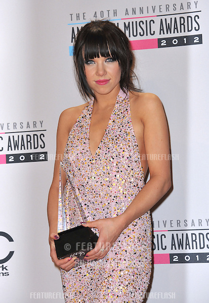 Carly Rae Jepson at the 40th Anniversary American Music Awards at the Nokia Theatre L.A. Live..November 18, 2012  Los Angeles, CA.Picture: Paul Smith / Featureflash
