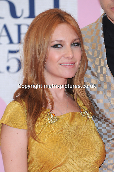 NON EXCLUSIVE PICTURE: PAUL TREADWAY / MATRIXPICTURES.CO.UK<br /> PLEASE CREDIT ALL USES<br /> <br /> WORLD RIGHTS<br /> <br /> French actress Josephine de la Baume attending the BRIT Awards 2015 at the O2 Arena, in London.<br /> <br /> FEBRUARY 25th 2015<br /> <br /> REF: PTY 15627
