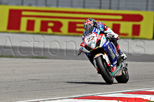 07 June 2014: Alex Lowes of Voltcom Crescent Suzuki in action during saturday's free practice session of  the  FIM Superbike World Championship - Malaysia Round held at Sepang International Circuit in Sepang, Malaysia.