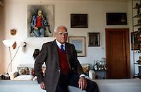 1989: ALBERTO MORAVIA, WRITER © Leonardo Cendamo