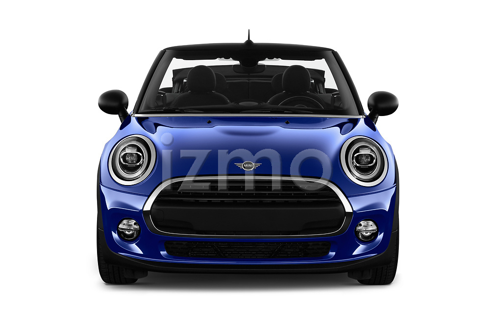 Car photography straight front view of a 2018 Mini MINI One Salt 2 Door Convertible