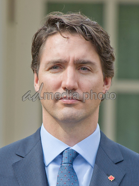 Prime Minister Justin Trudeau of Canada holds a joint press conference with United States President Barack Obama in the Rose Garden of the White House in Washington, DC on Thursday, March 10, 2016. Photo Credit: Ron Sachs/CNP/AdMedia