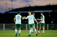 Darragh Leahy and No 8, Jayson Molumby shake hands at the final whistle after the Republic of Ireland's 0-0 hard fought draw against Mexico during Republic Of Ireland Under-21 vs Mexico Under-21, Tournoi Maurice Revello Football at Stade Parsemain on 6th June 2019