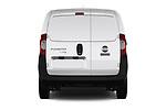 Straight rear view of 2017 Fiat Fiorino Pack 4 Door Car Van Rear View  stock images