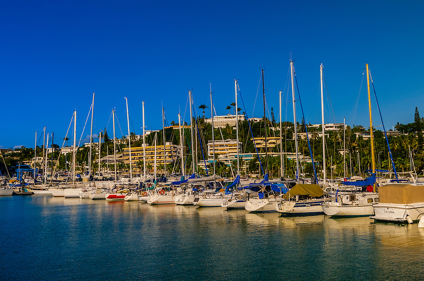 Boat harbor, Port Plaissance, Noumea, Grand Terre, New Caledonia