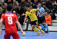 20200129 – Herentals , BELGIUM : Belgian Diniz Pinheiro pictured during a futsal indoor soccer game between Armenia and  the Belgian Futsal Devils of Belgium on the first matchday in group B of the UEFA Futsal Euro 2022 Qualifying or preliminary round , Wednesday 29 th January 2020 at the Sport Vlaanderen sports hall in Herentals , Belgium . PHOTO SPORTPIX.BE | DAVID CATRY