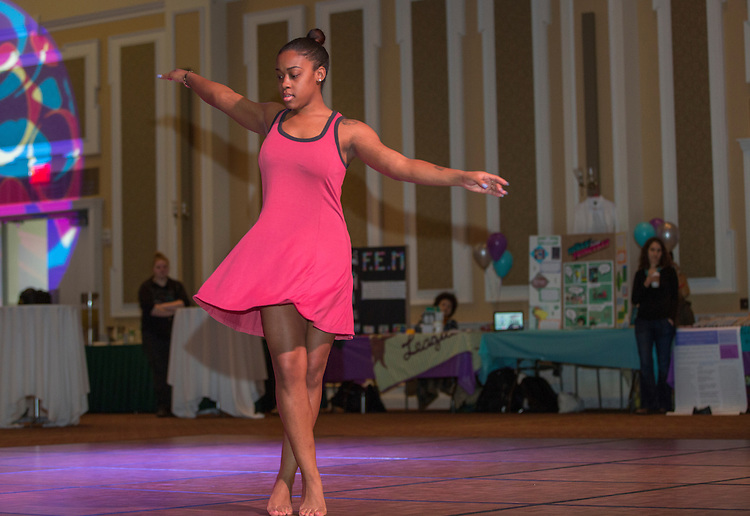 The Athens Black Contemporary Dancers perform at the International Women's Day Festival on March 13, 2016. Photo by Emily Matthews