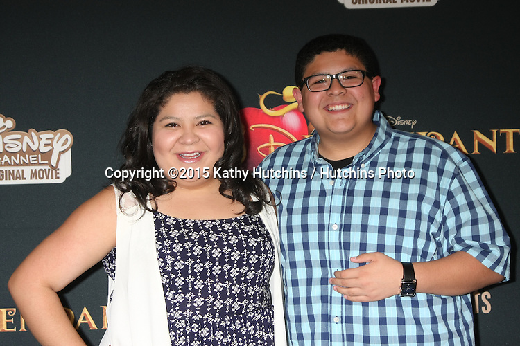 "LOS ANGELES - JUL 24:  Raini Rodriguez, Rico Rodriguez at the ""Descendants"" Premiere Screening at the Walt Disney Studios on July 24, 2015 in Burbank, CA"