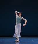 Svetlana Zakharova from the Bolshi Ballet performing 'Tristan & Isolde' during the rehearsal for 'Stars of the 21st Century' at the David H. Koch Theater at Lincoln Center  on October 18, 2012 in New York City.