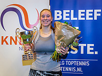Wateringen, The Netherlands, December 1,  2019, De Rhijenhof , NOJK 12 and16 years, Winner girls 16 years: Anouk Koevermans (NED) with the trophy<br /> Photo: www.tennisimages.com/Henk Koster