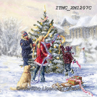 Marcello, CHRISTMAS CHILDREN, WEIHNACHTEN KINDER, NAVIDAD NIÑOS, paintings+++++,ITMCXM1207C,#xk# ,playing in snow