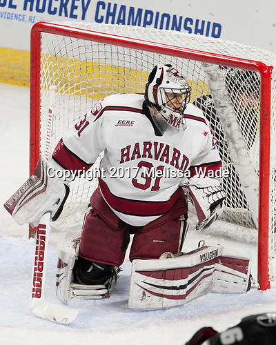 Merrick Madsen (Harvard - 31) - The Harvard University Crimson defeated the Providence College Friars 3-0 in their NCAA East regional semi-final on Friday, March 24, 2017, at Dunkin' Donuts Center in Providence, Rhode Island.
