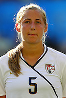 USA's Kendall Johnson during the FIFA U20 Women's World Cup at the Rudolf Harbig Stadium in Dresden, Germany on July 14th, 2010.
