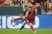 D.C. United midfielder Andy Najar (14) goes against Real Salt Lake defender Blake Wagner (19). D.C. United defeated Real Salt Lake 4-1 at RFK Stadium, Saturday September 24 , 2011.