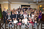 GOLDEN ANNIVERSARY: Peter and Kathleen Moriarty (seated centre) who celebrated their 50th wedding anniversary in the Abbey Gate Hotel on St Stephen's Day.   Copyright Kerry's Eye 2008