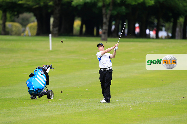 Cathal Butler (Kinsale) on the 1st fairway during Round 3 of the Irish Boys Amateur Open Championship at Tuam Golf Club on Thursday 25th June 2015.<br /> Picture:  Thos Caffrey / www.golffile.ie