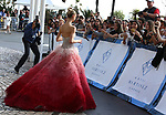 72nd edition of the Cannes Film Festival in Cannes in Cannes, southern France on May 23, 2019. - Day 10 at Hotel Martinez, Celebrities going to amfAR's 24th Cinema Against AIDS Gala, Meredith Mickelson wearing Ingie