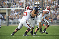 14 November 2009:  Penn State DT Jared Odrick (91)..The Penn State Nittany Lions defeated the Indiana Hoosiers 31-20 at Beaver Stadium in State College, PA..