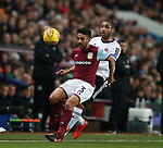 Neil Taylor of Aston Villa tackled by Leon Clarke of Sheffield Utd during the Championship match at Villa Park Stadium, Birmingham. Picture date 23rd December 2017. Picture credit should read: Simon Bellis/Sportimage