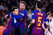30th January 2019, Camp Nou, Barcelona, Spain; Copa del Rey football, quarter final, second leg, Barcelona versus Sevilla;Philippe Coutinho of FC Barcelona celebrates scoring the opening goal for 1-0 in the 13th minute