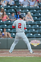 Danny Mars (2) of the Salem Red Sox at bat against the Winston-Salem Dash at BB&T Ballpark on June 16, 2016 in Winston-Salem, North Carolina.  The Dash defeated the Red Sox 7-1.  (Brian Westerholt/Four Seam Images)