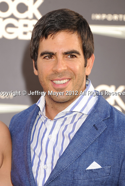 HOLLYWOOD, CA - JUNE 08: Eli Roth  arrives at the 'Rock Of Ages' - Los Angeles Premiere at Grauman's Chinese Theatre on June 8, 2012 in Hollywood, California.
