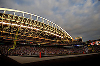 Sep 17, 2005; Seattle, WA, USA; Overall shot of Qwest Field during the Washington State Cougars versus the Grambling State Tigers football game. Mandatory Credit: Photo By Mark J. Rebilas