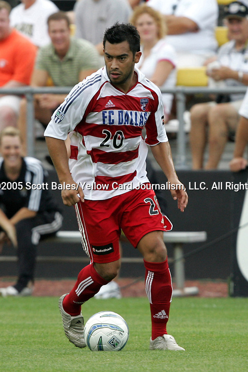 20 August 2005: Dallas's Carlos Ruiz. The Columbus Crew defeated FC Dallas 1-0 at Columbus Crew Stadium in Columbus, Ohio in a Major League Soccer Regular Season Match.