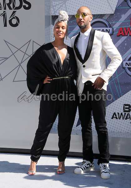26 June 2016 - Los Angeles. Alicia Keys, Swizz Beatz. Arrivals for the 2016 BET Awards held at the Microsoft Theater. Photo Credit: Birdie Thompson/AdMedia