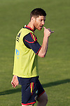 MADRID (24/05/09).- The Spanish Soccer national team has officially begun their hunt for the championship, arriving in the Madrid municipality of Las Rozas to begin preparing for South Africa World Cup.  Xabi Alonso...PHOTO: Cesar Cebolla / ALFAQUI
