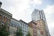 The Wachovia building doesn't fit with the rest of Fayetteville St. in Raleigh according to Thomas Crowder.