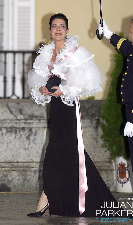 Princess Caroline of Monaco attends a Gala Dinner at the El Pardo Royal Palace in Madrid..Picture: UK Press