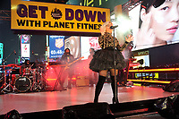 "NEW YORK - DECEMBER 31: Bebe Rexha performs on ""FOX'S New Years Eve with Steve Harvey: Live From Times Square"" on December 31, 2018 in New York City. (Photo by Stephen Smith/Fox/PictureGroup)"