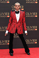 Layton Williams<br /> arriving for the Olivier Awards 2019 at the Royal Albert Hall, London<br /> <br /> ©Ash Knotek  D3492  07/04/2019
