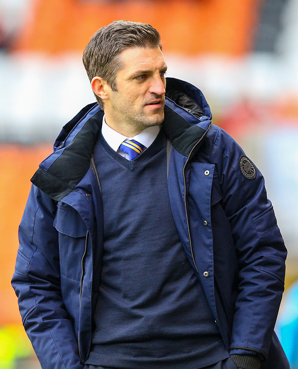Shrewsbury Town manager Sam Ricketts<br /> <br /> Photographer Alex Dodd/CameraSport<br /> <br /> The EFL Sky Bet League One - Blackpool v Shrewsbury Town - Saturday 19 January 2019 - Bloomfield Road - Blackpool<br /> <br /> World Copyright &copy; 2019 CameraSport. All rights reserved. 43 Linden Ave. Countesthorpe. Leicester. England. LE8 5PG - Tel: +44 (0) 116 277 4147 - admin@camerasport.com - www.camerasport.com
