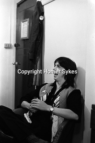 Jimmy McCulloch Paul and Linda McCartney Wings Tour 1975.Green Room Liverpool.