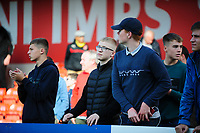 Fleetwood Town fans at the end of the game<br /> <br /> Photographer Andrew Vaughan/CameraSport<br /> <br /> The EFL Sky Bet League One - Lincoln City v Fleetwood Town - Saturday 31st August 2019 - Sincil Bank - Lincoln<br /> <br /> World Copyright © 2019 CameraSport. All rights reserved. 43 Linden Ave. Countesthorpe. Leicester. England. LE8 5PG - Tel: +44 (0) 116 277 4147 - admin@camerasport.com - www.camerasport.com