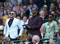 Boxers Carl Froch, David Haye and Nicola Adams in the Royal box on Centre Court <br /> <br /> Photographer Rob Newell/CameraSport<br /> <br /> Wimbledon Lawn Tennis Championships - Day 6 - Saturday 7th July 2018 -  All England Lawn Tennis and Croquet Club - Wimbledon - London - England<br /> <br /> World Copyright &not;&copy; 2017 CameraSport. All rights reserved. 43 Linden Ave. Countesthorpe. Leicester. England. LE8 5PG - Tel: +44 (0) 116 277 4147 - admin@camerasport.com - www.camerasport.com