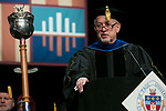 Paul Zionts, dean of the College of Education, addresses the graduating class Saturday, June 10, 2017, during the DePaul University College of Education commencement ceremony at the Rosemont Theatre in Rosemont, IL. (DePaul University/Jeff Carrion)
