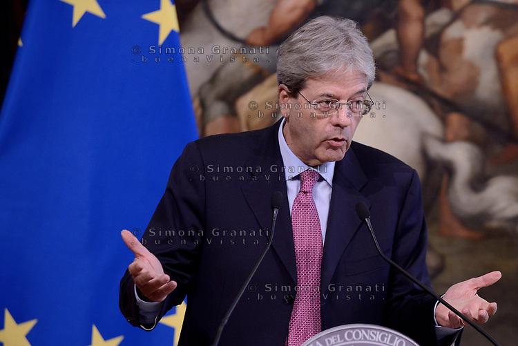 Roma, 27 Luglio 2017<br /> Paolo Gentiloni incontra il presidente del Partito socialdemocratico tedesco Palazzo Chigi