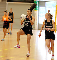 14.10.2014 Silver Ferns Joline Henry in action at the Silver Ferns Training ahead of their netball test match in Auckland tomorrow night. Mandatory Photo Credit ©Michael Bradley.