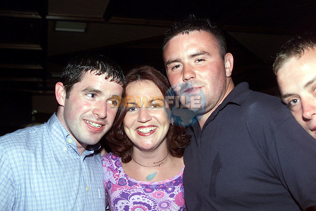 Morgan McGlew, Termonfeckin, Tracey King, Pearse Park and Sean Davidson, Bellewstown enjoying a night out in McPhails..Picture Paul Mohan Newsfile