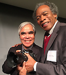 Pulitzer winners Nick Ut and John White, poses for a picture at the Centennial Celebration for Pulitzer Prize winners at the Newseum on Thursday afternoon, January 28, 2016 in Washington D.C.